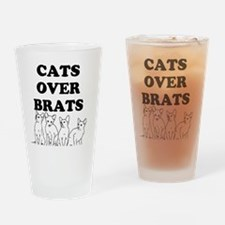 Cats Over Brats Drinking Glass