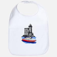 Huntington NY Lighthouse with boat Bib