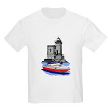 Huntington NY Lighthouse with boat T-Shirt