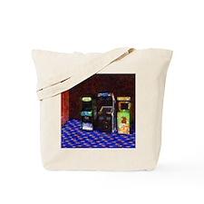 3 Flowering Arcade Cabinets in Pastel Tote Bag