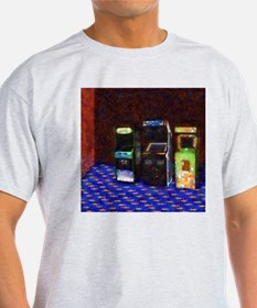 3 Flowering Arcade Cabinets in Pastel T-Shirt