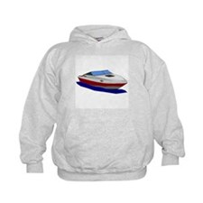 Red Cuddy Cabin Power Boat Hoodie