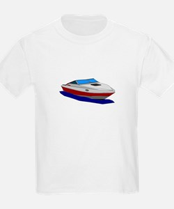 Red Cuddy Cabin Power Boat T-Shirt