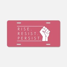 Rise. Resist. Repeat. Aluminum License Plate