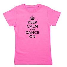 Cute Keep calm and dance Girl's Tee