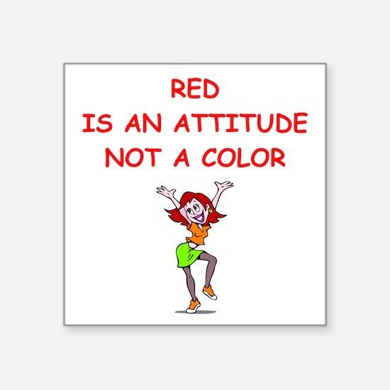 red head Sticker