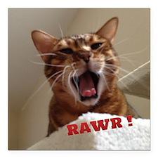 "Rawr Kitty Square Car Magnet 3"" x 3"""