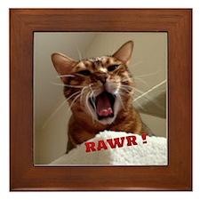 Rawr Kitty Framed Tile