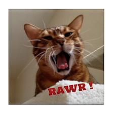 Rawr Kitty Tile Coaster