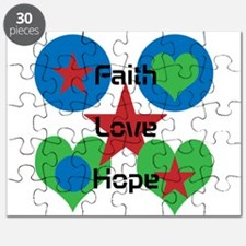 Faith, Love, Hope With Design Puzzle