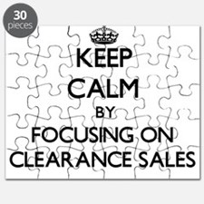 Keep Calm by focusing on Clearance Sales Puzzle