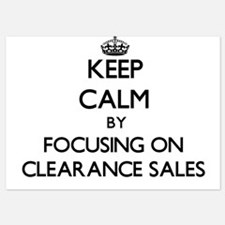 Keep Calm by focusing on Clearance Sal Invitations