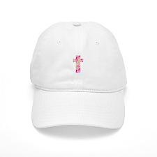 Pink Art Splatter for Charlotte Baseball Cap