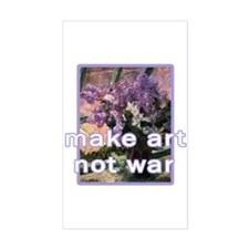 Make Art Not War Rectangle Decal
