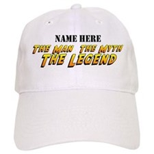 Man Myth Legend Custom Baseball Baseball Cap
