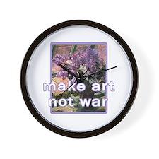Antiwar Make Art Not War Wall Clock