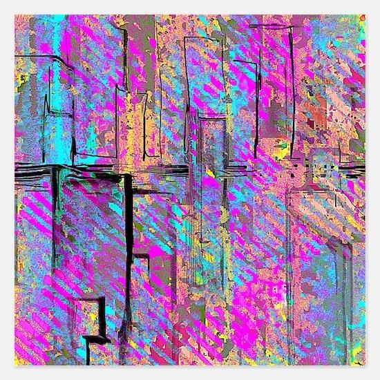 Colorful City Invitations