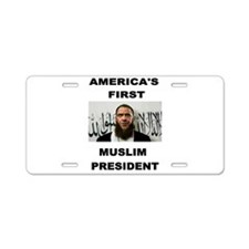 MUSLIM PRESIDENT Aluminum License Plate