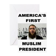 MUSLIM PRESIDENT Greeting Cards