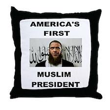 MUSLIM PRESIDENT Throw Pillow