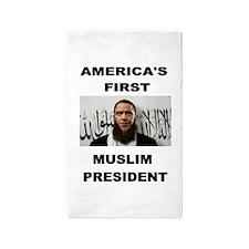 MUSLIM PRESIDENT 3'x5' Area Rug