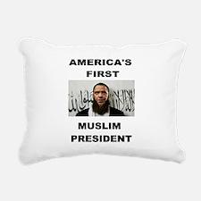 MUSLIM PRESIDENT Rectangular Canvas Pillow