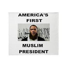 MUSLIM PRESIDENT Throw Blanket
