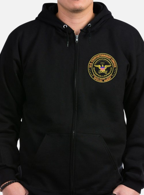 Cute Counter terrorist Zip Hoodie (dark)