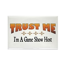 Trust Game Show Host Rectangle Magnet