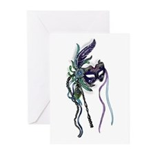 Decorative Mardi Gras Mask Greeting Cards