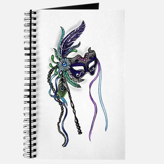 Decorative Mardi Gras Mask Journal