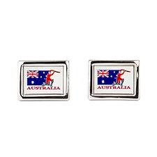 Cricket Australia Rectangular Cufflinks