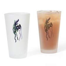 Decorative Mardi Gras Mask Drinking Glass