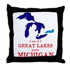 4 out of 5 Great Lakes Throw Pillow