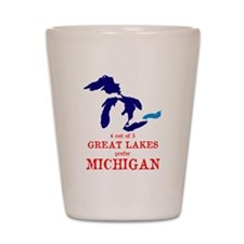 4 out of 5 Great Lakes Shot Glass