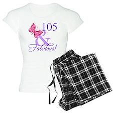Fabulous 105th Birthday Pajamas