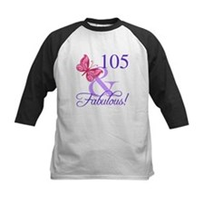 Fabulous 105th Birthday Baseball Jersey