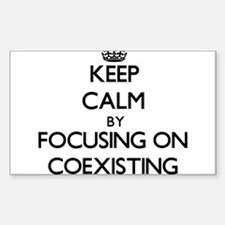 Keep Calm by focusing on Coexisting Decal
