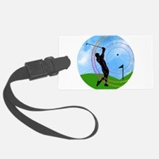 Golf Swing on the Fairway Luggage Tag