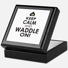 Penguin Keep Calm and Waddle On Keepsake Box