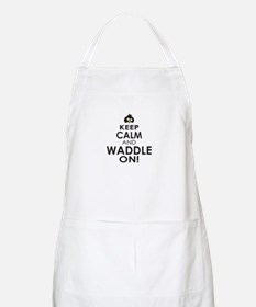 Penguin Keep Calm and Waddle On Apron