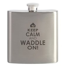 Penguin Keep Calm and Waddle On Flask