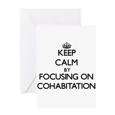 Keep Calm by focusing on Cohabitati Greeting Cards