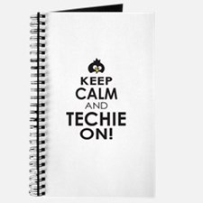 Penguin Keep Calm and Techie On Journal