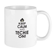 Penguin Keep Calm and Techie On Mugs