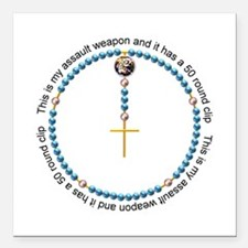 "Rosary Square Car Magnet 3"" x 3"""
