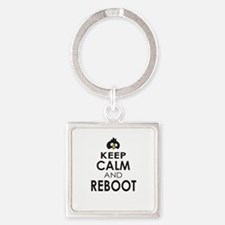 Penguin Keep Calm and Reboot Keychains