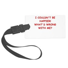 happy Luggage Tag