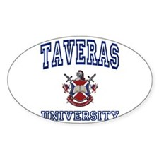 TAVERAS University Oval Decal