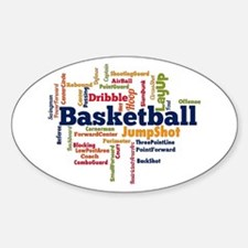 Basketball Word Cloud Decal